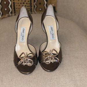 Champagne bronze Jimmy Choo open toed heels